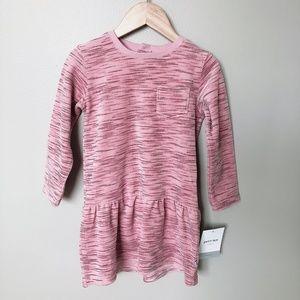 PETITLEM NWT pink velvet-like dress 24m